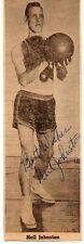 NEIL JOHNSTON: Basketball HOFer: NBA Scoring Champ: Rare Autographed Picture