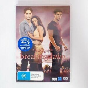Twilight Breaking Dawn Part 1 - Movie DVD Region 4 AUS Free Postage