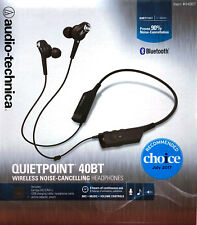 Audio-Technica QuietPoint 40BT Bluetooth Wireless Noise Cancelling Earphone New