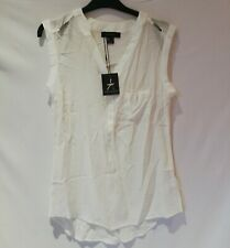 NWT Primark White Women Ladies Sleeveless Tops Blouse Shirts Casual Work Size 6