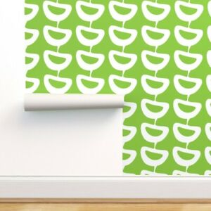 Peel-and-Stick Removable Wallpaper Abstract Leaf Foliage Modern Slices Mod