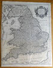 ENGLAND and WALES, RW.Seale Original antique map 1745