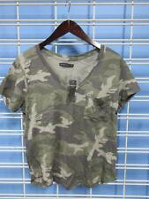 Women's Abercrombie and Fitch T-Shirt Small Green Camo