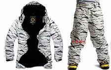 South play Mens Winter Waterproof Desert Military Ski-Snowboard Jacket Or Pants