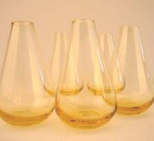 12 Stück Glasvasen Vasen mini Väschen klein Glas gelb Blumenvase neu Vase