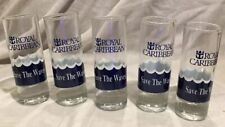 Royal Caribbean Shot Glass Save the Waves Tall Shot Glass *Set of 5-pcs *NEW