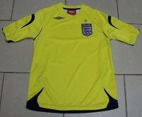 *** Vintage England Football Shirt - 2006 - Away Yellow - Umbro - Size MB ***