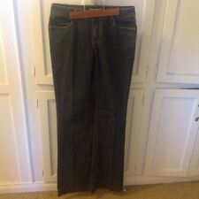 CAbi size 4 blue jeans with slightly flared leg.