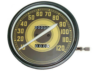 """""""Military"""" Face 2:1 ratio SPEEDOMETER 1941 - 1945 Harley Knuckle UL 45 WLA WLC"""