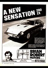 "1979 NISSAN DATSUN 280ZX AD A4 CANVAS PRINT POSTER 11.7""x8.3"""
