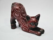 Resin Sexy Cat Hand Carved Statue 2.5''