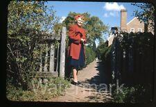 1941 red border kodachrome Photo slide Wakefield VA #2 Teen Girl