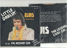 ELVIS LITTLE DARLIN' GOLD VINLY 45rpm RECORD CARDBOARD PICTURE SLEEVE CANADA OOP