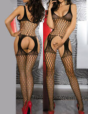 bf7162ca45 HOT Sexy Babydoll Fishnet Lingerie Underwear BODYSTOCKING Catsuit wedding  night