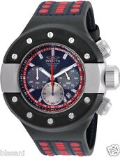 Invicta 19174 S1 Rally Men's Black/Red Leather 52mm Watch Chronograph
