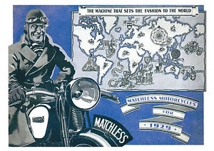 1929 Matchless Motorcycles poster