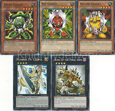 Yugioh Gadget Budget Deck - Machina Fortress - Green Gadget - Red - 43 Cards