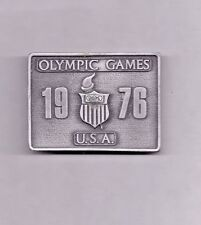 Olympics - Vintage 1976 Olympic Games Belt Buckle - Bergamot Brass Works