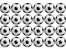 24 Football Wafer Paper Cupcake/Fairy Cake Toppers 4cm Round
