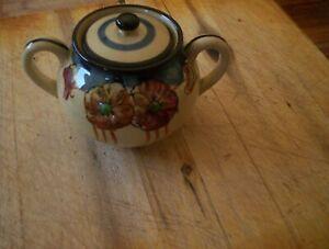 Vintage Japanese lustre Sugar Bowl with Lid