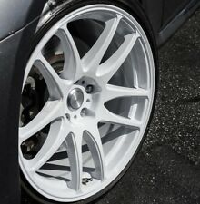 "18"" ESR SR08 18x8.5 Gloss White Wheels 5x100 +30 For Scion FRS TC XD BRZ Rims"