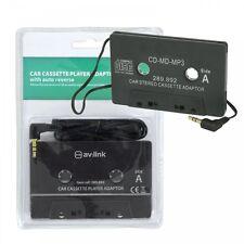Av: enlace coche reproductor de Cassette Adaptador Para Mp3 dispositivos como teléfonos inteligentes y almohadillas