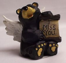 """ANGEL BEAR WITH """"I MISS YOU"""" SIGN HOME & CABIN DECOR (NAS)"""
