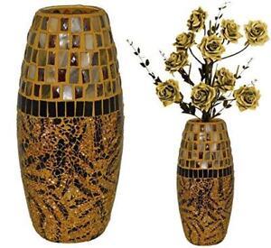 Antique Hessian Bullet Glass Effect Style Flower Vases European Look