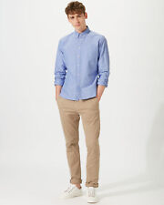 Jigsaw Japanese Selvedge Oxford Shirt Mens New Blue