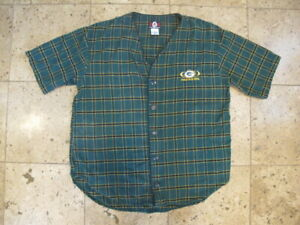 Green Bay Packers NFL Flannel Pajama Top Men's Large NWOT