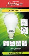 Sunbeam Led 9w Bulbs Warm White Medium Base E26, A19, 800 Lumens 1, 3, 6, 9, 12,