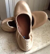 Lucky Brand Erin Tan Nude  Leather Ballet Flat Sz 6.5 Excellent