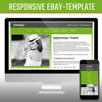 Responsive Ebay Template Verkaufsvorlage Ebayvorlage Auktionsvorlage | Grün 2017