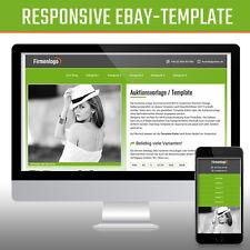 Responsive Ebay Template Verkaufsvorlage Ebayvorlage Auktionsvorlage   Grün 2017