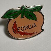 Georgia State Lapel Pin Peach Shape Design Georgia Hat Pin Souvenir Collectible