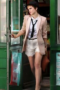 EMMA WATSON - WALKING OUT OF A STORE !!! INTERESTING OUTFIT !!