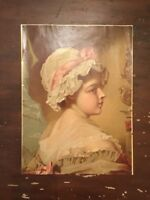 Antique Victorian Woman Still Life Print