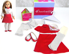 American Girl Red RUBY BALL GOWN OUTFIT Holiday Set Dress Coat Purse Barrette