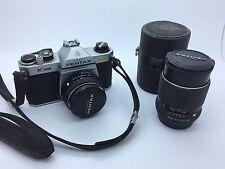 Pentax K1000 35mm Film Camera with Pentax 50mm Lens & Pentax 135mm Lens