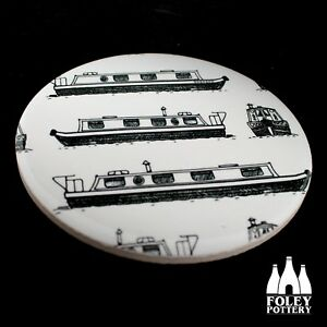 OTC: Barge, Narrowboat, Canal Boats inspired COASTER  Gift By Foley Pottery