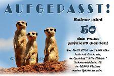 10 Lustige Einladungskarten Geburtstag Einladungen JEDES ALTER 30 40 50 60  70