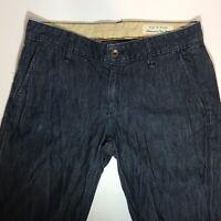 rag & bone Trouser Flare Jeans Pants Womens Sz 28 Dark Blue Handmade In USA
