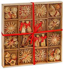 BRUBAKER 48 Strohsterne Christbaumschmuck Stroh Anhänger bis 6,5 cm Weihnachten