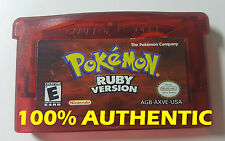 AUTHETNIC Pokemon Ruby Version New Battery GBA Game Boy Advance