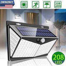 208 LED Solar Power Outdoor Lamp PIR Motion Sensor Waterproof Garden Wall Light