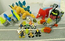 Imaginext Mega Dinosaur figure toy playset bundle Stegosaurus Triceratops battle