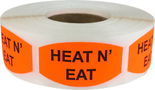 Heat N' Eat Grocery Market Stickers, 0.75 x 1.375 Inches, 500 Labels Total