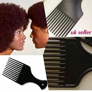 3 Pcs AFRO COMB Curly Hair Hairdresser Salon Cutting Cut Men Women Style Styling
