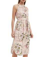NWT Witchery Floral Sleeveless Dress [16] Pink Flowers Relaxed Midi Long Skirt