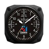 Cessna Altimeter Desk Alarm Clock, Aviation Themed  Home & Office Decor ORB-0116
